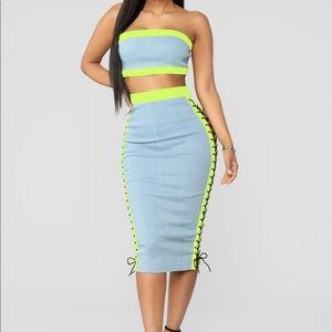 Dresses & Skirts - Crop top skirt set
